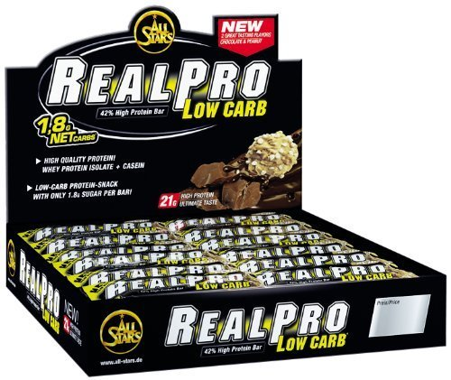 Photo of All Stars REALPRO Low Carb Riegel